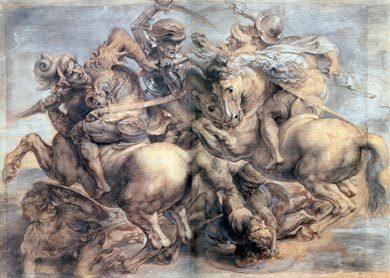 Leonardo da Vinci. La battaglia di Anghiari
