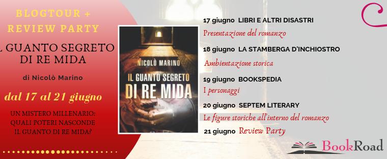 #blogtour: Il guanto segreto di Re Mida – Nicolò Marino (BookRoad). Le figure storiche all'interno del romanzo