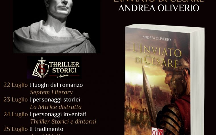 #blogtour. L'inviato di Cesare di Andrea Oliverio. I luoghi del romanzo