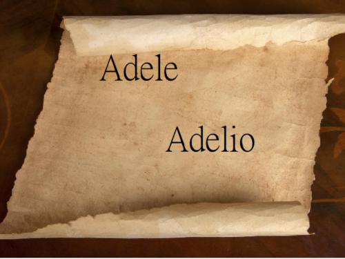 Adele, Adelio
