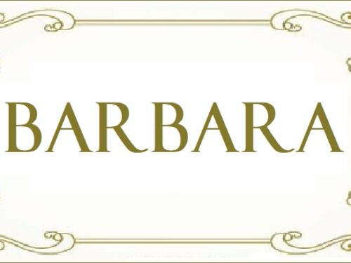 Barbara. Origine del nome